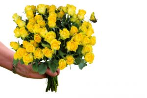 Bouquet of Flowers depicting column title: bouquets and accolades